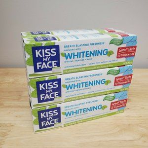 6 Tubes of Kiss My Face Whitening Cool Mint Gel